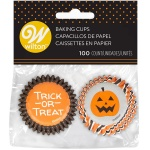Mini papirnate posodice Stripe & Dots 100/1 Halloween